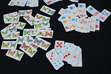 Ecole lot jeu educatif Volumetrix DOMINO animaux lutin fleurs papillons forme