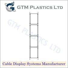 Cable Window Estate Agent Display - 1x4 A4 Portrait - Suspended Wire Systems