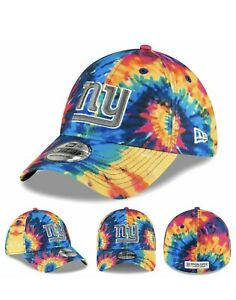 New York Giants Crucial Catch New Era 39THIRTY NFL Stretch Sz L/XL Tie Dye 2020