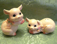 Ceramic Salt and Pepper shakers PIGS - Country style spice shakers Pink Pigs