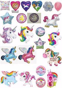 Unicorn Pegasus Magic Helium Balloons Party Kaleidoscope APAC Betallic Unique