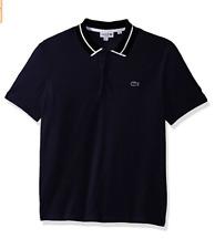 Lacoste Men's Short Sleeve 3 Plys Heavy Pique Polo White Outline Croc Size 5 / L