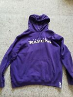 Baltimore Ravens AFC North NFL Pullover Purple Hoodie XL