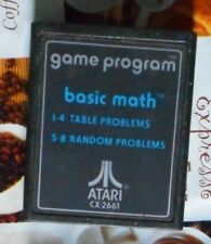 Basic Math Atari Vcs 2600 cartridge only tested working