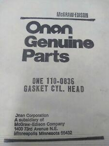 Onan 110-0836 RV Generator Cylinder Head Gasket NOS