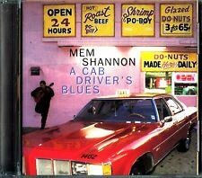 MEM SHANNON - A Cab Driver's Blues CD Peter Carter/Jackie Banks/Barry Thomas