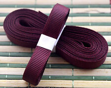 "Red wine 5yds 3/8"" (10 mm)Solid Grosgrain Ribbon Hair Bows Ribbion#"