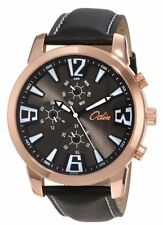 "Odin Swistar Men's 819-3M Gold Plated Quartz Dress Watch ""LIST $395"""