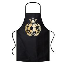 König Fußball | Krone | Soccer | EM | WM | Gold | Grillschürze / Latzschürze
