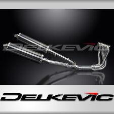 """Honda CB1100 Full 4-2 Stainless Exhaust 18"""" Carbon Oval Muffler 99 00 01 02 03"""