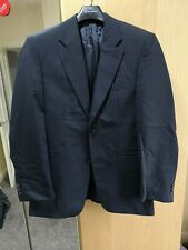 Mens blue pinstripe suit never used a comes with 2 trousers
