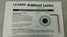 La Gard Mechanical Combination Change Key #1315 Used for 4 wheel lock, Gun safe