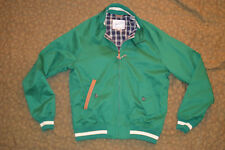 $400 New Slater and Sons by Golden Bear Barracuda Jacket Green SMALL leather tri