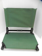 The Stadium Chair, Forest Green -Excellent Condition! Steel Frame, Hook, Cordura