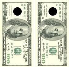 Realistic One Hundred Dollar Bill Cornhole Board Decal Wrap Decal Free Squeegee