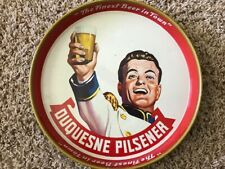 """Vintage Beer Advertising Tray for """"Duquesne Pilsener, Beer and Wine Collectibles"""