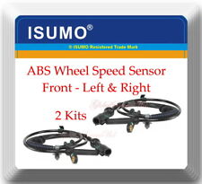2 ABS Wheel Speed Sensor Front L / R For: F150 2005-2008 MARK LT 2006-2008 4WD