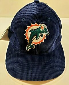 Logo Athletic NFL: MIAMI DOLPHINS Corteroid Snap-Button Cap Hat - Vintage NWT