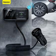 Baseus Coche FM Transmisor Inalámbrico Bluetooth 5.0 MP3 reproductor 3.1A USB cargador de coche