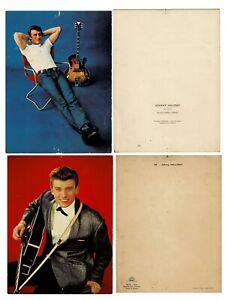 2 photos de Johnny Hallyday Ektachrome Herman-Léonard, Edug Sam Levin
