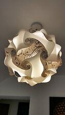 lampshade light shade ceiling shabby retro chic vintage white black flower 32cm