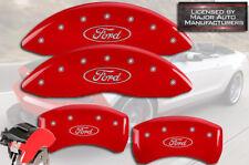 "2013-2019 ""Ford"" Flex Front + Rear Red MGP Brake Disc Caliper Covers HD 4pc Set"