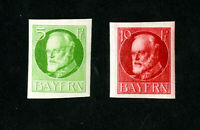 Bavaria Stamps VF 2 Early Imperfs OG H