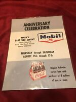 Vintage Mobil and Coca Cola Promo Gas Flyer from Sioux Falls, SD.  Free Coke!