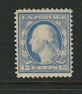 US Scott # 382 Unused, 15c Washington Single Line Watermark