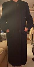 X-Heavy Full Length Black Wool Womens Coat Size Med.