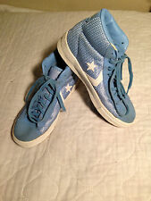 Converse Steal The Show Mens Kids Boys Size 7 Blue High Top Shoes ~ USED