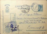 ROUMANIE / ROMANIA 1942 (21/04) Censored Military P.Card MiFP11.I from APO N°66