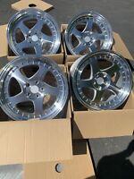 18x9.5 +30 F /18x10.5 +25 R | AodHan AH01 5x114.3 Silver Wheels Rims (Used Set)