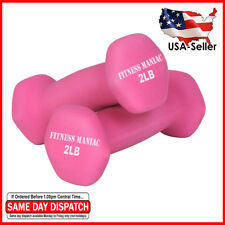 Neoprene Dumbbells 2 LBS Pair Strength Gym Training Exercise Ladies Weight Set