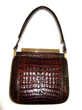 Krokotasche, IRV, ausgefallene Form, Krokodilleder Tasche, Crocodile Leather Bag