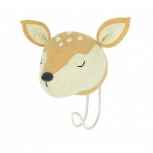 Fiona Walker Sleepy Deer Felt Animal Head Hook - BRAND NEW