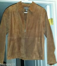 Copper Key Womens Brown Genuine Leather Jacket Coat Size XL