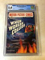 WHEN WORLDS COLLIDE Motion Picture Comics #110 CGC 5.0 key 1952 williamson evans