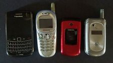 Vintage Cell Phones ● Samsung ● BlackBerry ● Motorola ● Kyocera ● 4 Lot