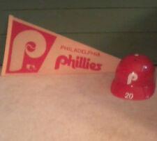 Philadelphia Phillies Mike Schmidt Laich Souvenir Helmet & 70's Phillies Pennant