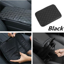 Black Leather Car Armrest Pad Pillow Cover Center Console Arm Rest Seat Box Pad