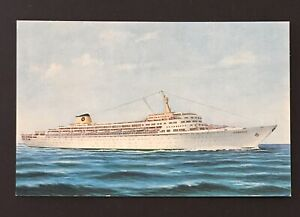 Home Lines S.S. Oceanic Blue Letter Back Ocean Passenger Liner Postcard Unposted