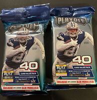 (2) 2020 Panini Playoff Football Fat Pack  Burrow Tua Lot Of 2 Blue Parallels
