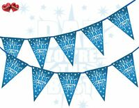 Happy Fathers Day Best Dad In The World Shooting Star Burst Theme Bunting Banner