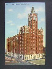 Chicago Illinois IL Furniture Mart Old Cars Curt Teich Linen Postcard 1941