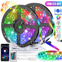 10M 2*16.4Ft WiFi Waterproof 5050 RGB SMD LED Strip Light Fit Alexa Google Home