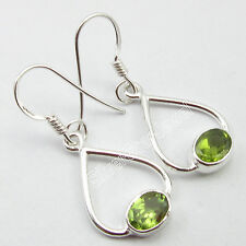 """End Peridot Earrings 1.3"""" Christmas Day Combined Shipping ! .925 Silver High"""