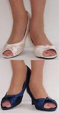 Stiletto Satin Peep Toe Shoes for Women