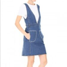 New See by Chloe Shady cobalt dress denim overall Sz 42 L M New $385