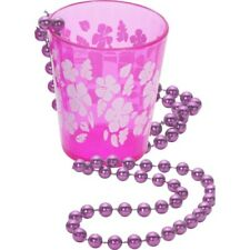 Shot Glass on Beads Hot Pink Hen Party Do Womens Ladies Fancy Dress